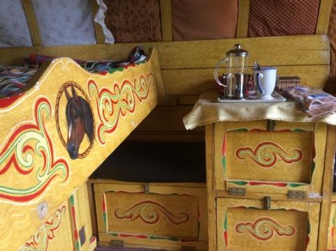 Original paintwork inside the wagon.